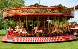 Fairground carousel Stock Image