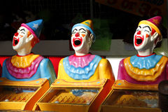 Fairground Clowns Amusement Stock Photo
