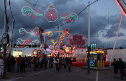Fairground in Estepona, Spain Stock Photo