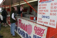 Fairground food stall. Selling fast food Stock Images