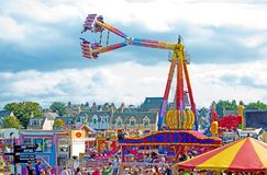 Fairground in full swing at Nairn. Fairground in full swing during Nairn Highland games held on 18th August 2018 royalty free stock images