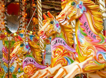 Fairground horses Royalty Free Stock Photo