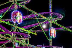 Fairground at night Royalty Free Stock Photo