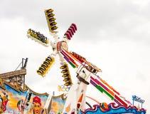 Fairground przejażdżka przy Oktoberfest w Monachium Fotografia Stock