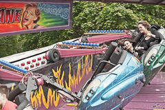 Fairground przejażdżka przy roztoki Urquart grami Obraz Royalty Free