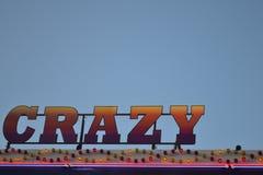 Fairground przejażdżki literować szalony Zdjęcie Royalty Free