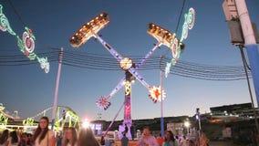 Fairground przejażdżki w parku rozrywki Obraz Stock