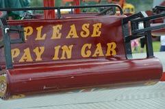 Fairground przejażdżki znak Obraz Royalty Free