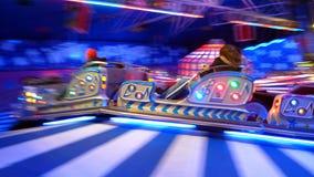 Fairground ride. Speeding fairground 'caterpillar' ride -- image full of excitement and motion blur Stock Photos