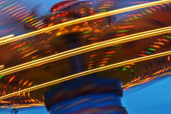 Fairground Ride. With lights in motion spinning Stock Photography