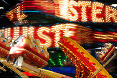 Fairground ride. Photoshop composite of a funfair attraction The Twister Stock Photography