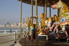 Fairground ride on Brighton Pier. UK royalty free stock photo