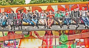 Fairground ride at Highland games Stock Images