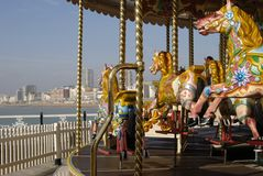 Fairground Ride On Brighton Pier. UK Royalty Free Stock Photo