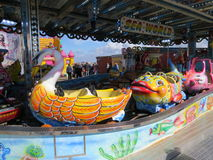 Fairground Ride. On one of the piers of Blackpool's Golden Mile promenade Stock Images