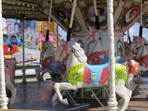 Fairground Ride. On one of the piers of Blackpool's Golden Mile promenade Royalty Free Stock Photos