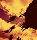 Fairground ride silhouette 04 Stock Photos