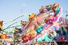 Fairground Rides at the Oktoberfest in Munich Stock Image
