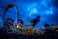 Fairground Screams. A ride at the Canfield Fair, Canfield, Ohio, USA Stock Photography