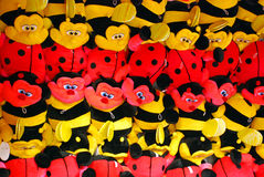 Fairground Soft Toy Prizes. Image of soft toy prizes in an amuzement theme park game stall Stock Images