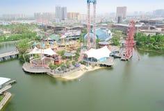 Fairground top view stock image