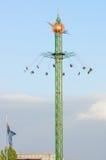 Fairground w tivoli uprawia ogródek Kopenhaga, Dani Obrazy Royalty Free