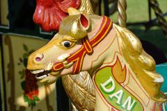 Fairground Wooden horse Royalty Free Stock Photo