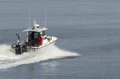 Fairhaven Harbormaster som går tillbaka till port Royaltyfria Foton