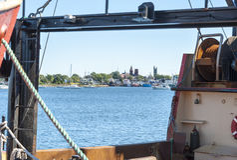 Fairhaven Massachusetts strand Arkivfoto