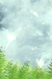 Fairies. Fantasy background for your artistic creations stock illustration