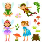 Fairies of both genders Stock Images