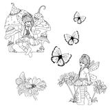 Fairies and Flutters Royalty Free Stock Photos