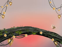 Fairies forest background stock illustration
