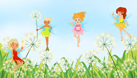 Fairies in the garden Royalty Free Stock Photos