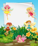 Fairies  and sign Royalty Free Stock Photo