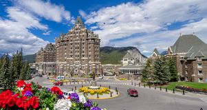 Fairmont Banff Springs image stock
