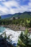 Fairmont Banff Springs herein gelegen stockfotografie