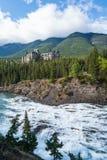 Fairmont Banff Springs herein gelegen stockfoto