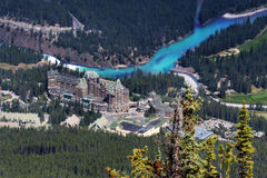 Fairmont Banff wiosny obrazy stock