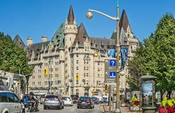 Fairmont Château Laurier city of Ottawa royalty free stock photo