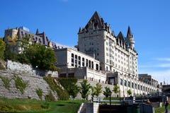 Fairmont château laurier在渥太华,加拿大 库存照片