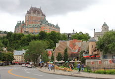 Fairmont Chateau Frontenac Seen From Below Royalty Free Stock Photos
