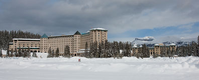 Fairmont Chateau Lake Louis Hotel Stock Photography