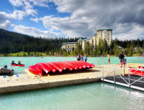 Fairmont Chateau Lake Louise Stock Image