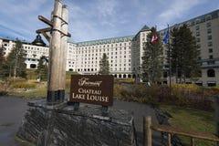Fairmont Chateau Lake Louise Royalty Free Stock Photo