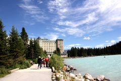 Fairmont Chateau Lake Louise Stock Images