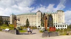 Fairmont Chateau Lake Louise Stock Photos
