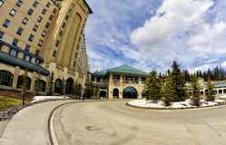 The Fairmont Chateau Lake Louise Royalty Free Stock Photos