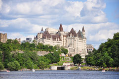 Fairmont Chateau Laurier in Ottawa Royalty Free Stock Image