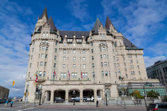 Fairmont Chateau Laurier. OTTAWA, CANADA -  11TH OCTOBER 2014: The outside of the Fairmont Chateau Laurier Hotel during the day Stock Photos